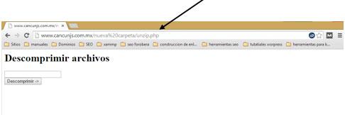 Descomprimir un archivo .zip usando PHP